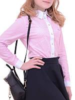 Школьная блузка подростковая ДЖИЛИАН розовая и голубая