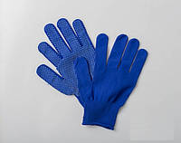Перчатки (Микроточка) Синие (12пар/уп) (50уп/меш)