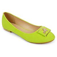 Балетки женские стильные E305-29 GREEN,модная обувь