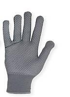 Перчатки рабочие Микроточка серые с ПВХ точкой