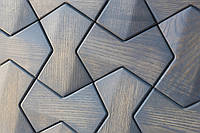 Деревянная 3D мозаика Detroit