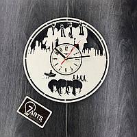 Оригинальные часы ручной работы из дерева «The Beatles»