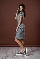 Стильное летнее полосатое платье. Код модели Л-46-55-17.