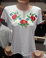 """Женская вышиванка с коротким рукавом """" Надежда 2"""""""