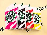 Резиновый 3D чехол для iPhone 4/4S Starbucks (4 цвета)
