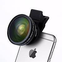 Съемный объектив для телефона/планшета 2 в 1 Turata. Линза для телефона на прищепке
