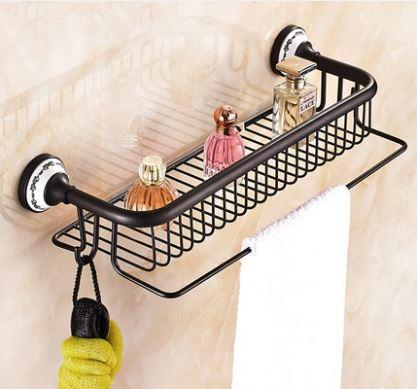 Полочка настенная с вешалкой и крючками в ванную 0401