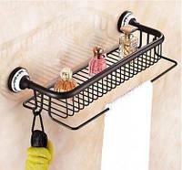 Полочка настенная с вешалкой и крючками в ванную 0401, фото 1