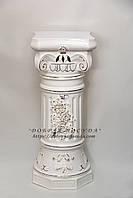 Колонна греция белая 78см лепка