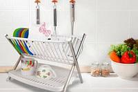 Подставка для тарелок Folding Rack kitchen. Подставка под тарелки, подставка на кухню. Сушилка для посуды