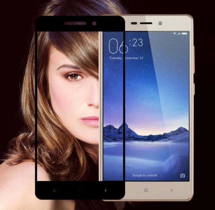 Защитное стекло Optima 2.5D 9H на весь экран для Xiaomi Redmi 3 черный