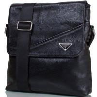 """Мужская кожаная сумка с карманом для нетбука, планшета 6-7"""" TOFIONNO (ТОФИОННО) TU1037-black"""