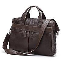 Мужская кожаная сумка Jasper&Maine 7122C коричневая