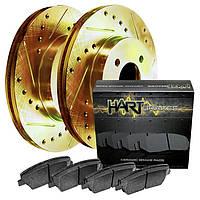 Комплект передних дисков и колодок Hart brakes для Nissan Leaf 2017, фото 1