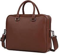 Мужская сумка TIDING BAG M47-22685-1C коричневая