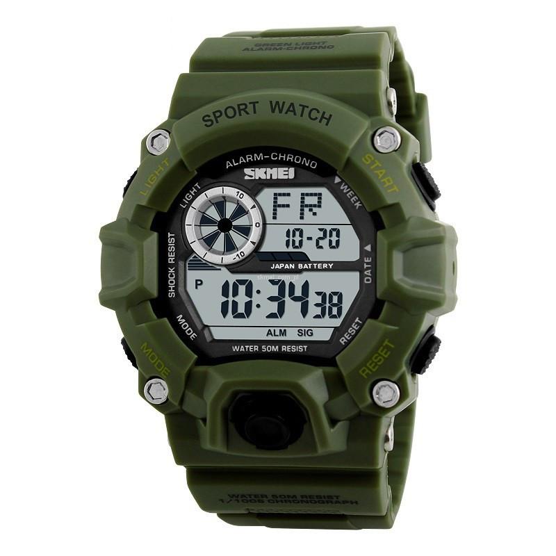 Часы водонепроницаемые Skmei Army Green 1019