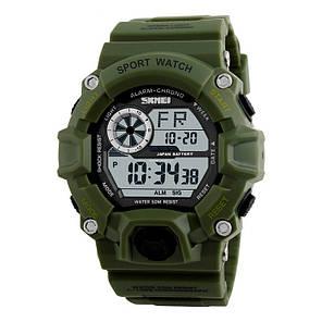 Часы водонепроницаемые Skmei Army Green 1019, фото 2