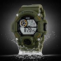 Часы водонепроницаемые Skmei Army Green 1019, фото 3