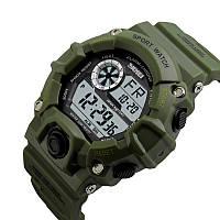 Часы водонепроницаемые Skmei Army Green 1019BOXGC, фото 1