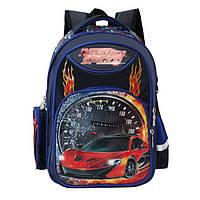 """Стильный портфель для мальчика с рисунком """"Авто"""" в расцветке, фото 1"""