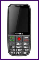 Телефон Sigma Comfort 50 Elegance (GREY). Гарантия в Украине 1 год!