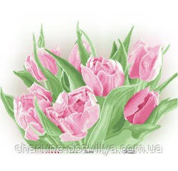 Схема для вышивки бисером Розовые тюльпаны, фото 2