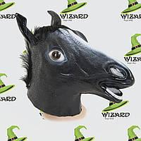 Маска латексная Лошадь черная