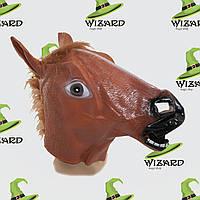 Маска латексная Лошадь коричневая