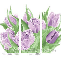 Схема для вышивки бисером Триптих Тюльпаны, фото 2