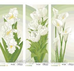 Схема для вышивки бисером Триптих Белое совершенство, фото 2