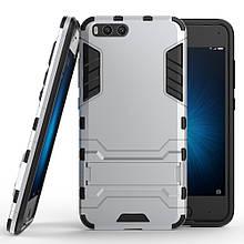 Чехол накладка силиконовый Armor Shield для Xiaomi Mi 6 серебро