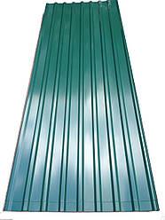 Профнастил покрівельний ПК-20 зелений товщина 0,4 розмір 3 Х1,15м