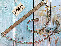 Ручка-цепочка для сумки (эко-кожа), бежевая