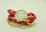 Модные женские часы с наматывающимся браслетом на руку в камнях оптом