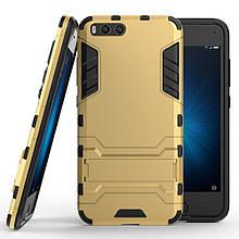 Чехол накладка силиконовый Armor Shield для Xiaomi Mi 6 золотой