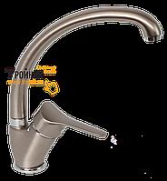 LVMSTR2001#DLTANKS Bianchi Delta Смеситель для кухни с U-образным изливом никель