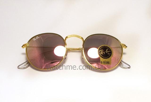 Описание Очки Ray Ban RB 3447 Round Metal Pink стекло комплект  солнцезащитные копия b0f2ccece3bc6