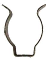 Скоба для крепления ламп T8 LEMANSO / LM124