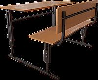 Школьные парты. Ученическая парта двухместная регулируемая по высоте. Школьная мебель, ученические парты.