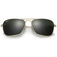 Очки Ray Ban RB 3136 Caravan Gold стекло комплект, копия солнцезащитные