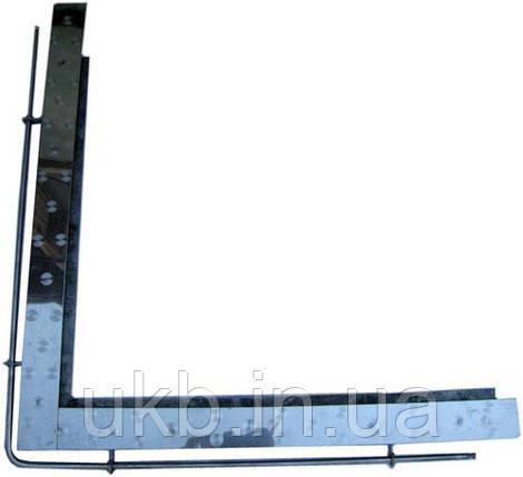 Угол печной НЕРЖАВЕЙКА 750*730 мм, фото 2