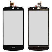 Сенсорный экран (touchscreen) для Acer Liquid Z530, черный, оригинал