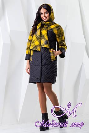 Женское комбинированное демисезонное пальто (р. 44-60) арт. 971 Тон 21, фото 2