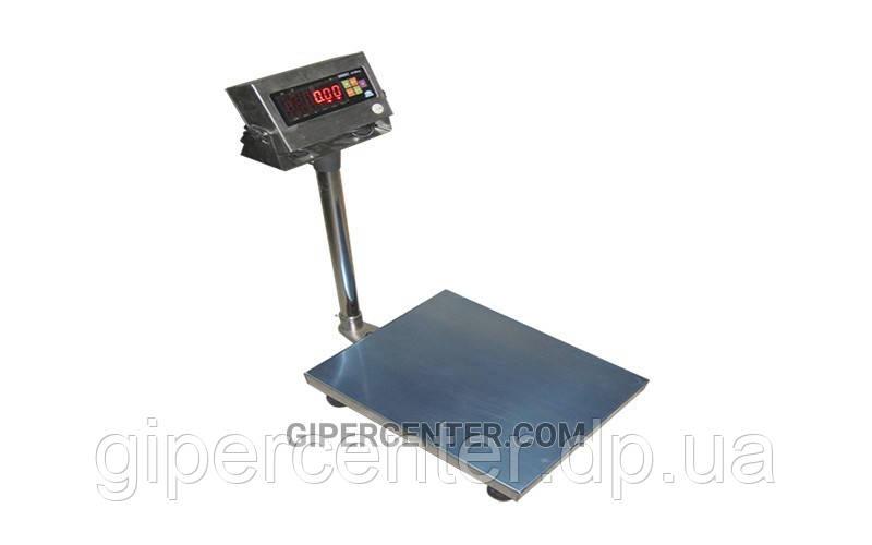 Товарные электронные весы ЗЕВС™ нержавеющего исполнения A12ESS до 300 кг (600х800 мм)