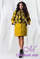Женское осеннее пальто больших размеров (р. 44-60) арт. 971 Тон 5