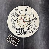 Детские деревянные часы на стену «Винни Пух»