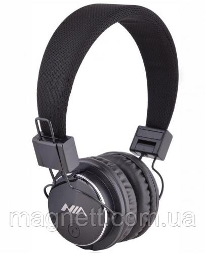 Bluetooth стерео наушники NIA Q8-851S с МР3 плеером и FM радио