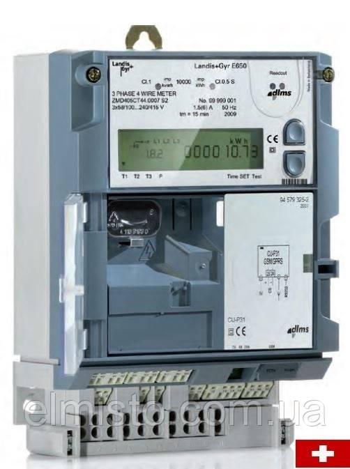 Электросчетчик LANDIS & GYR ZMD410CR44.0457.c2 (E650) 58-477В  5(10)А трехфазный многотарифный  (Швейцария)