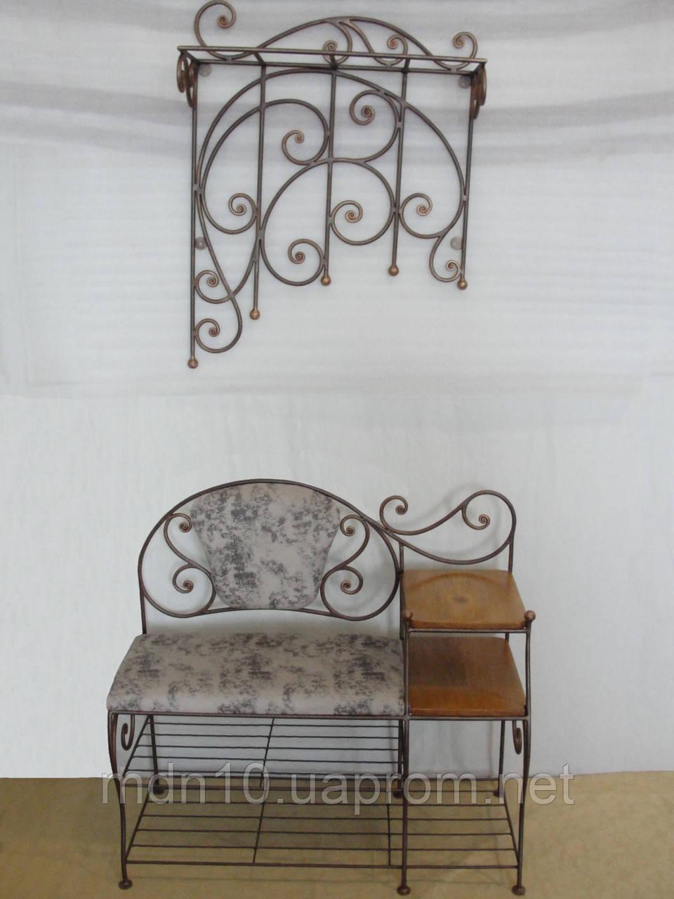 Кованый набор мебели в прихожую  -  36
