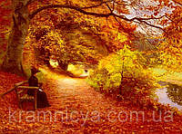 "Картина на холсте по номерам ""Золотая осень"", 40х50см, MG036, фото 1"